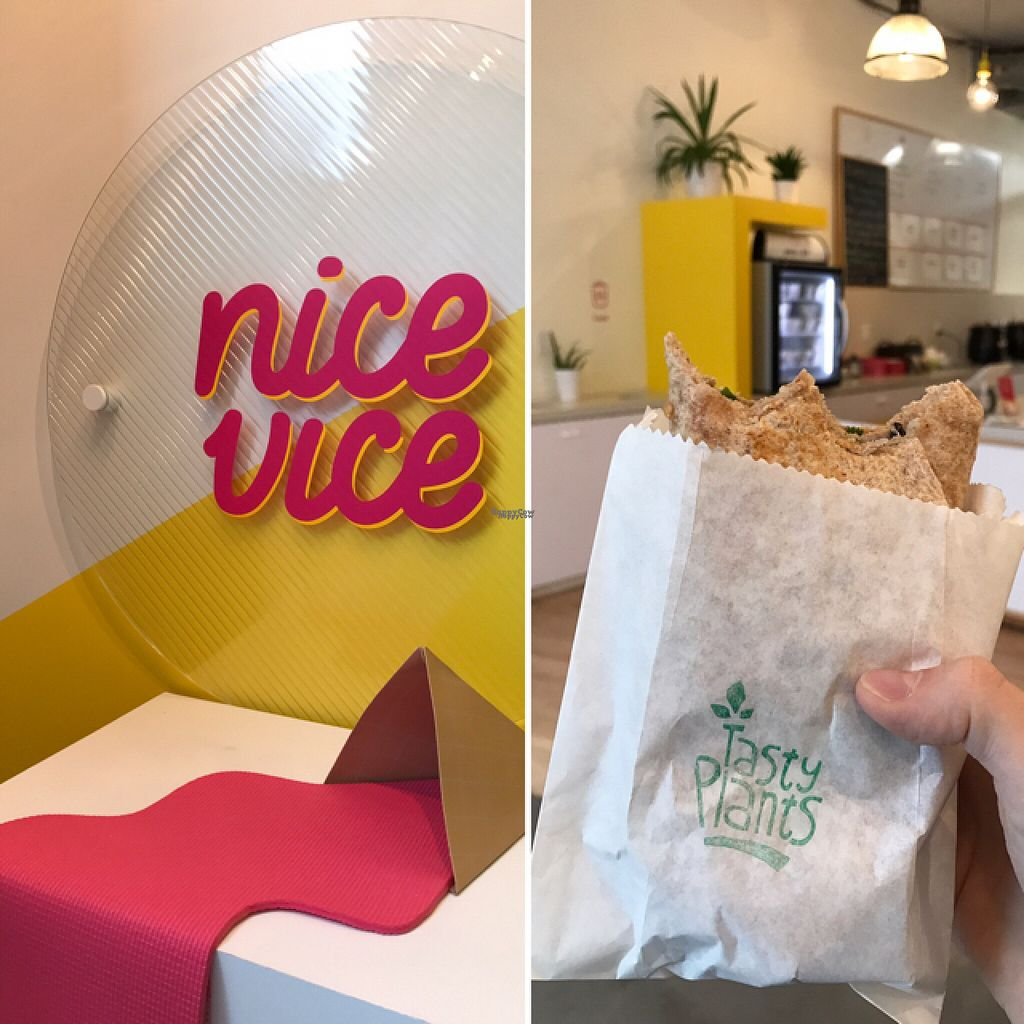 """Photo of CLOSED: Nice Vice  by <a href=""""/members/profile/ByronSobe"""">ByronSobe</a> <br/>currently teamed up with Tasty Plants to serve hot vegan lunch options!! the burrito was delicious!! :) <br/> November 1, 2016  - <a href='/contact/abuse/image/69315/185905'>Report</a>"""