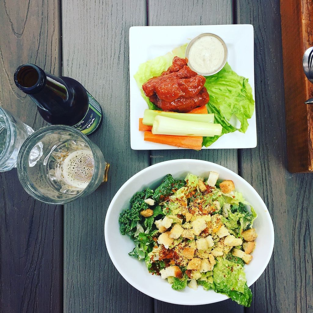 "Photo of MeeT in Gastown  by <a href=""/members/profile/AnastaciaJanowska"">AnastaciaJanowska</a> <br/>Kale Caesar Salad and vegan chicken wings <br/> April 5, 2018  - <a href='/contact/abuse/image/69316/381038'>Report</a>"