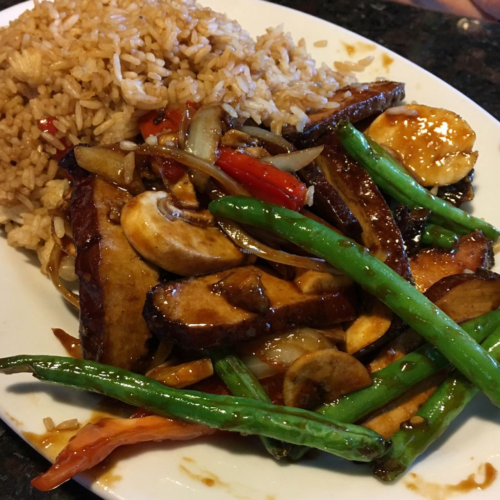 """Photo of Mama Fu's Asian House  by <a href=""""/members/profile/KWdaddio"""">KWdaddio</a> <br/>sesame tofu with fried rice <br/> April 24, 2017  - <a href='/contact/abuse/image/69317/251777'>Report</a>"""