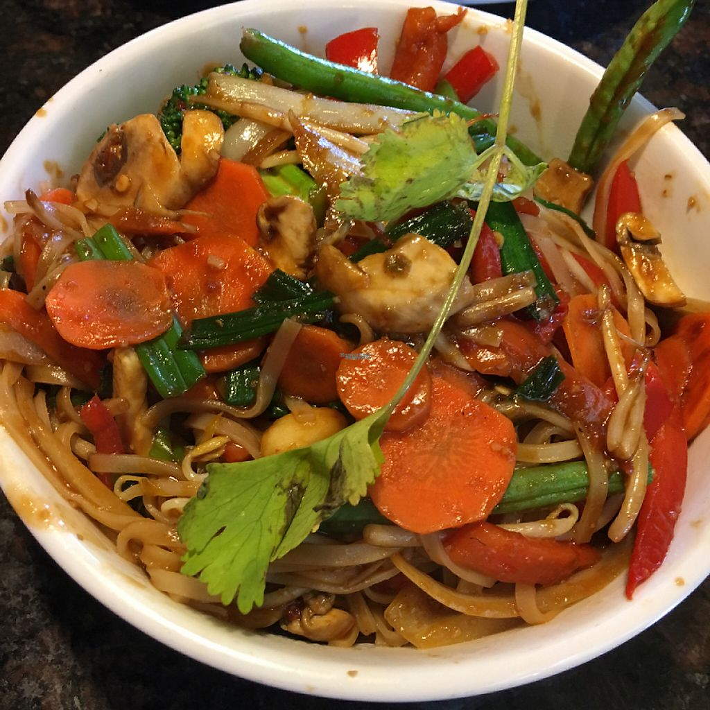 """Photo of Mama Fu's Asian House  by <a href=""""/members/profile/KWdaddio"""">KWdaddio</a> <br/>Thai basil with rice noodles and extra vegetables <br/> April 24, 2017  - <a href='/contact/abuse/image/69317/251780'>Report</a>"""