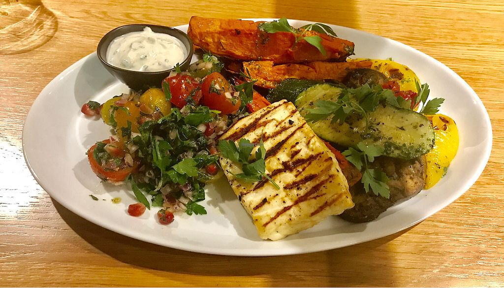 """Photo of REMOVED: Parsley and Fruits  by <a href=""""/members/profile/nolaveggie"""">nolaveggie</a> <br/>Halloumi Grill €14 <br/> July 12, 2017  - <a href='/contact/abuse/image/69341/279616'>Report</a>"""