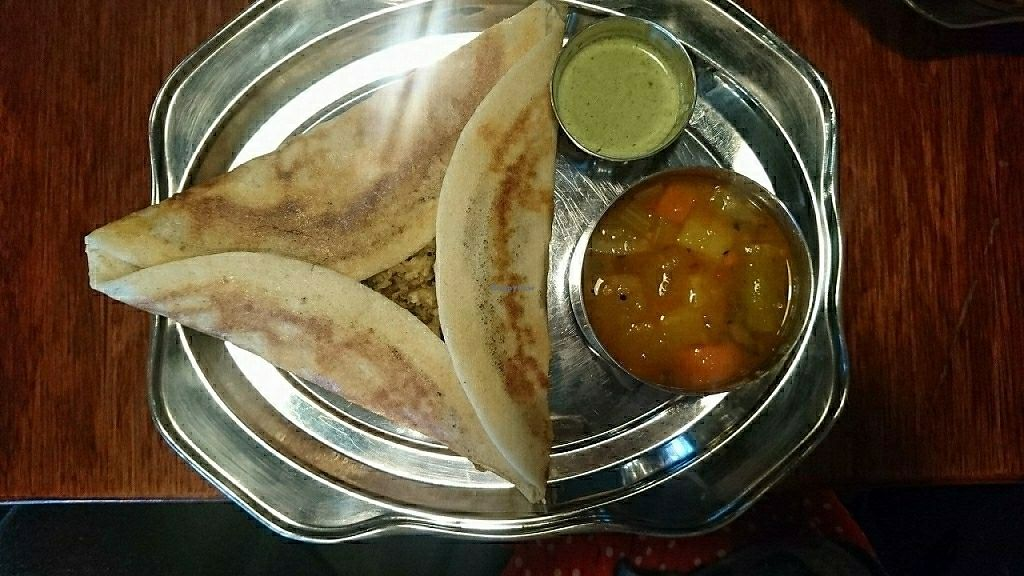 """Photo of The Bhakti Tree  by <a href=""""/members/profile/JessieO%27Connor"""">JessieO'Connor</a> <br/>masala dosa <br/> June 3, 2017  - <a href='/contact/abuse/image/69377/265251'>Report</a>"""
