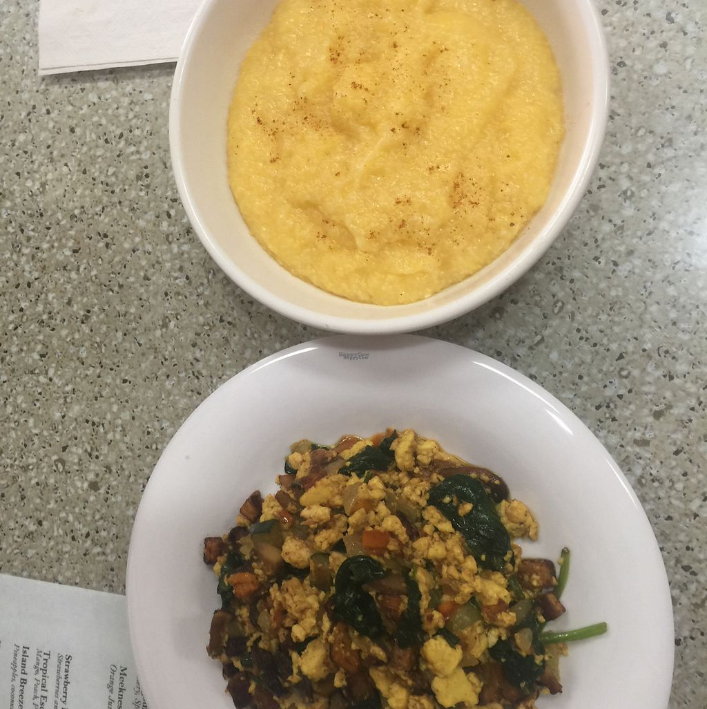 "Photo of The Vineyard Vegetarian Cafe  by <a href=""/members/profile/Getaclewis"">Getaclewis</a> <br/>Golden breakfast scramble and yellow grits were tasty! <br/> October 27, 2016  - <a href='/contact/abuse/image/69399/184622'>Report</a>"