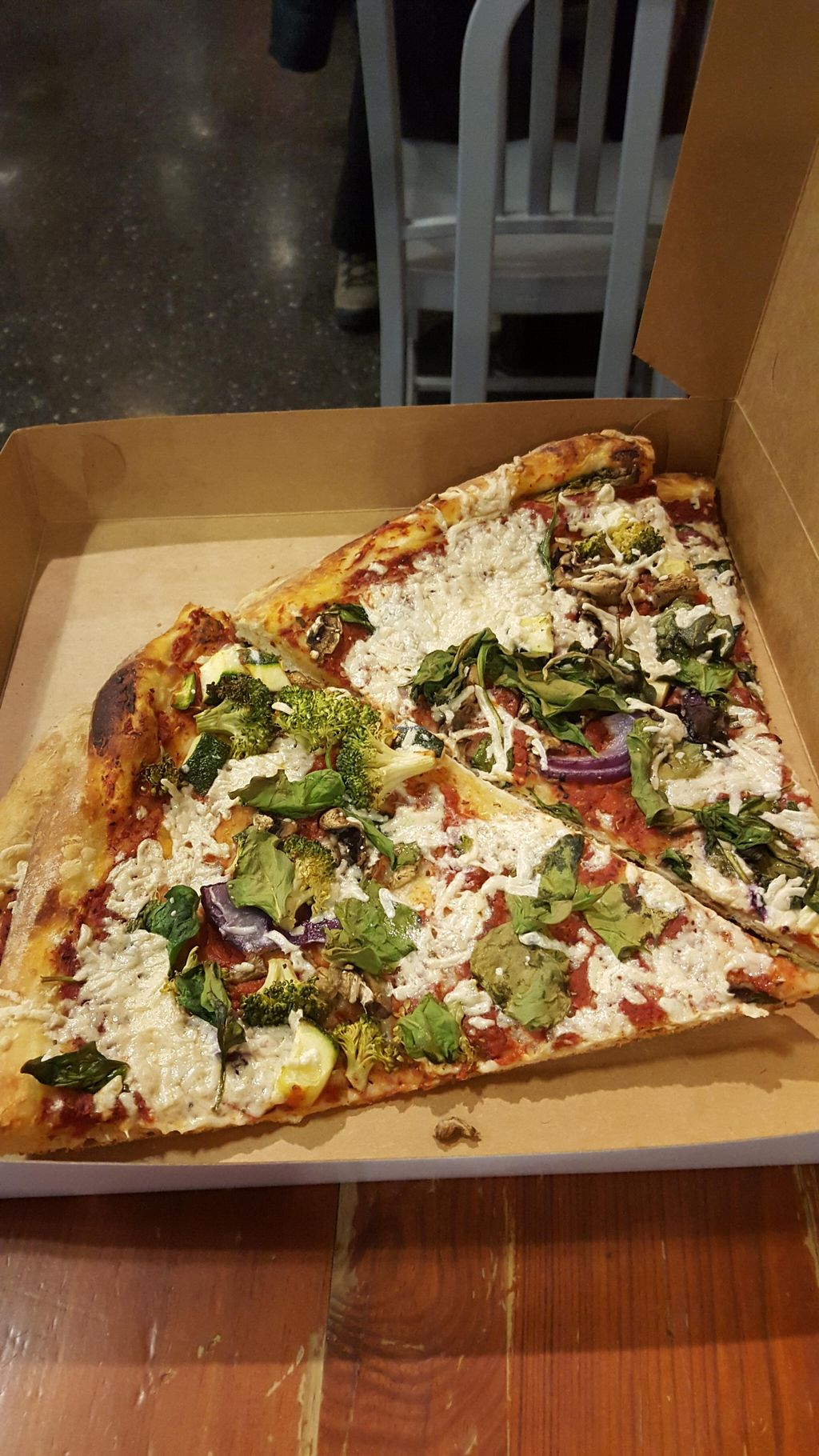 "Photo of Washington Deli  by <a href=""/members/profile/Dcvegjess"">Dcvegjess</a> <br/>Vegan pizza by the slice, available every day. I've never seen that outside Whole Foods.  <br/> February 8, 2016  - <a href='/contact/abuse/image/69401/135463'>Report</a>"