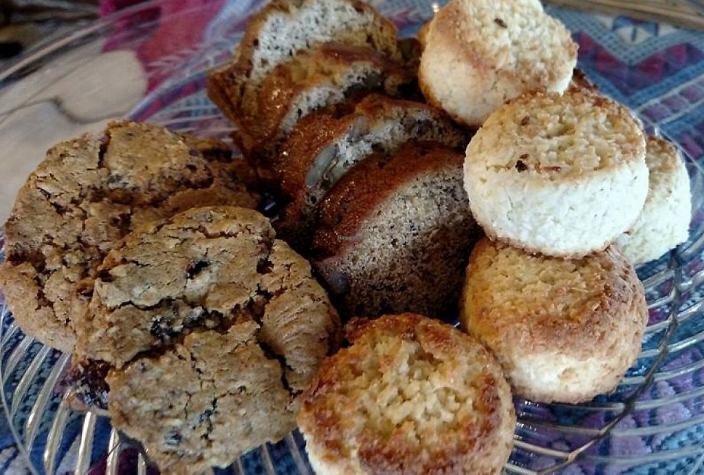 """Photo of Fresh Cafe & Events Center  by <a href=""""/members/profile/community"""">community</a> <br/>coconut macaroons, Oatmeal cranberry Walnut & banana nut bread <br/> February 15, 2016  - <a href='/contact/abuse/image/69412/227216'>Report</a>"""