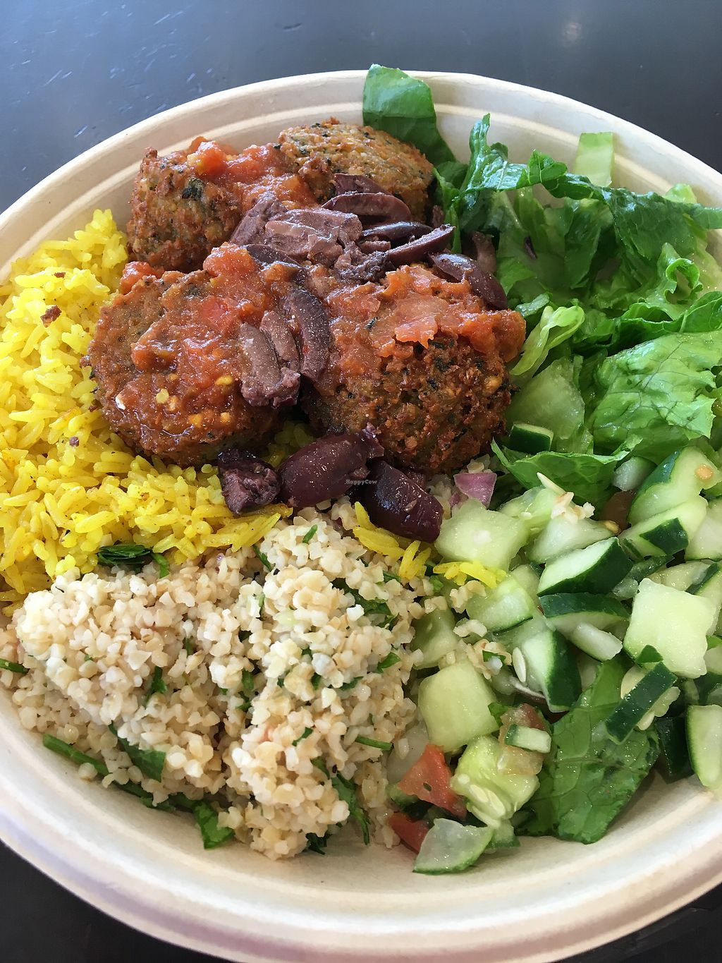 "Photo of Garbanzos Mediterranean Grill - Airport  by <a href=""/members/profile/AliciaAckerman"">AliciaAckerman</a> <br/>Falafel Plate <br/> July 10, 2017  - <a href='/contact/abuse/image/69443/278784'>Report</a>"