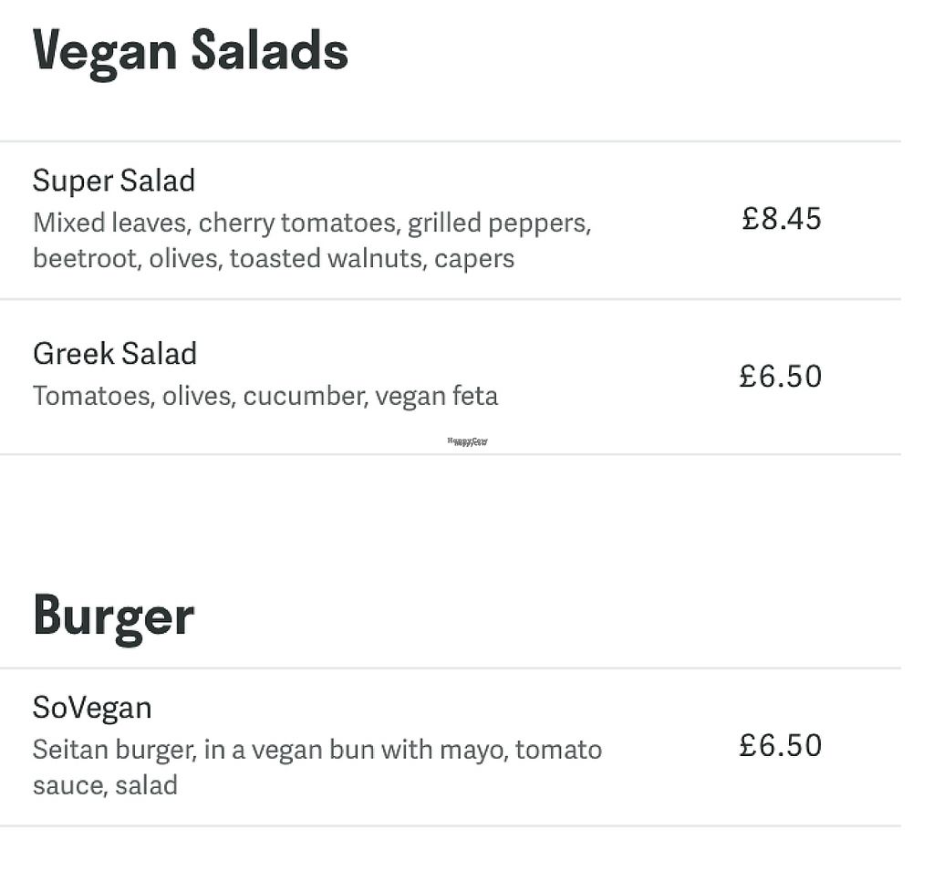 """Photo of Royal Sovereign Pub  by <a href=""""/members/profile/missliey"""">missliey</a> <br/>Vegan menu section as seen on Deliveroo <br/> January 3, 2017  - <a href='/contact/abuse/image/69523/207577'>Report</a>"""