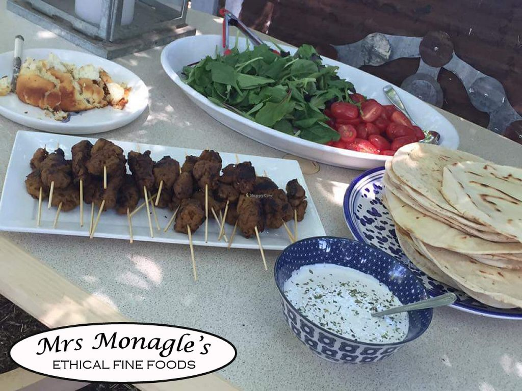 """Photo of Mrs. Monagle's Ethical Fine Food  by <a href=""""/members/profile/RissyJane"""">RissyJane</a> <br/>  A souvalaki feast  <br/> February 12, 2016  - <a href='/contact/abuse/image/69535/135955'>Report</a>"""