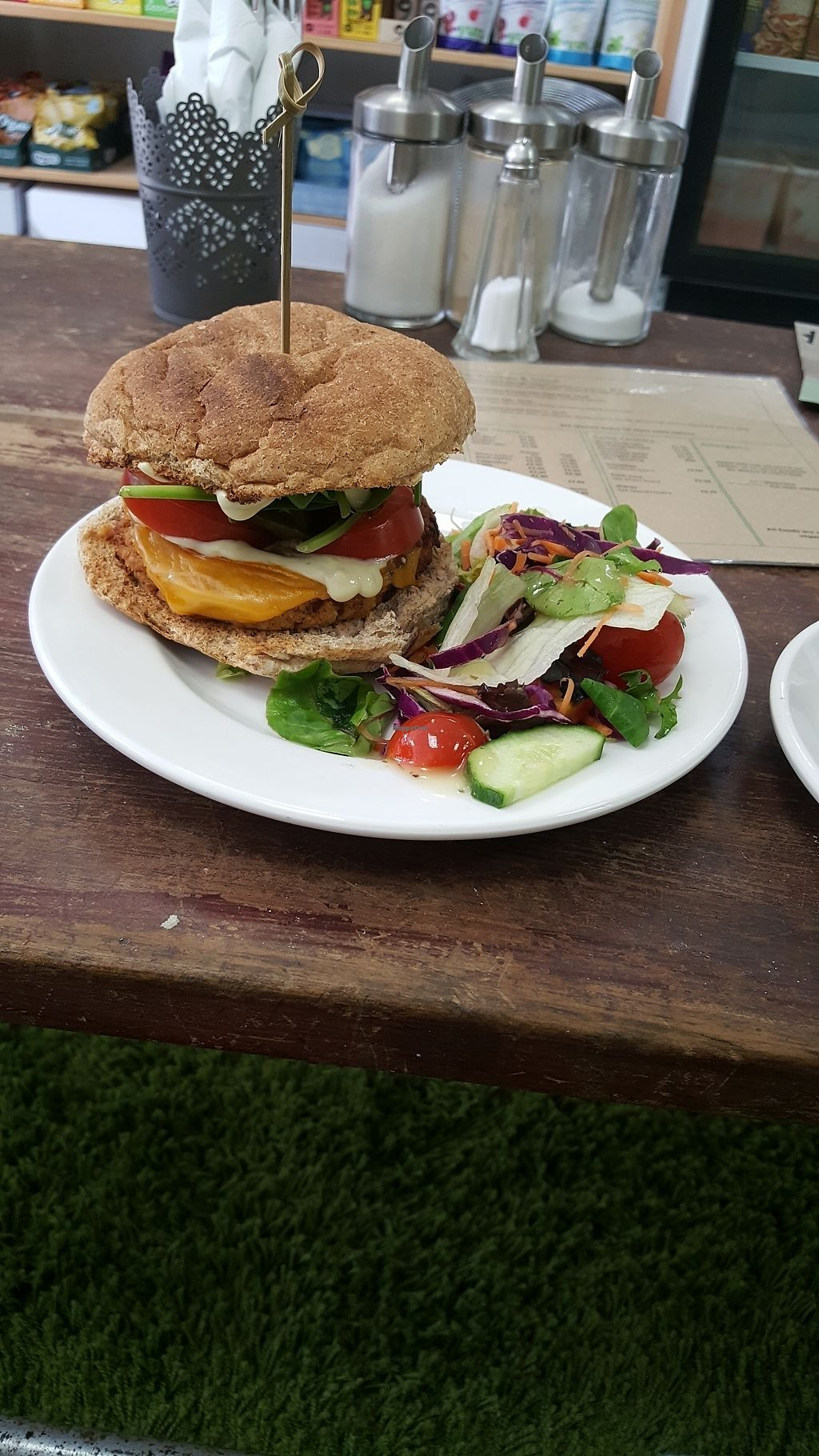"""Photo of CLOSED: PlantBased Exmouth  by <a href=""""/members/profile/PaganEliseHare"""">PaganEliseHare</a> <br/>My Gorgeous Lunch <br/> August 25, 2017  - <a href='/contact/abuse/image/69549/297005'>Report</a>"""
