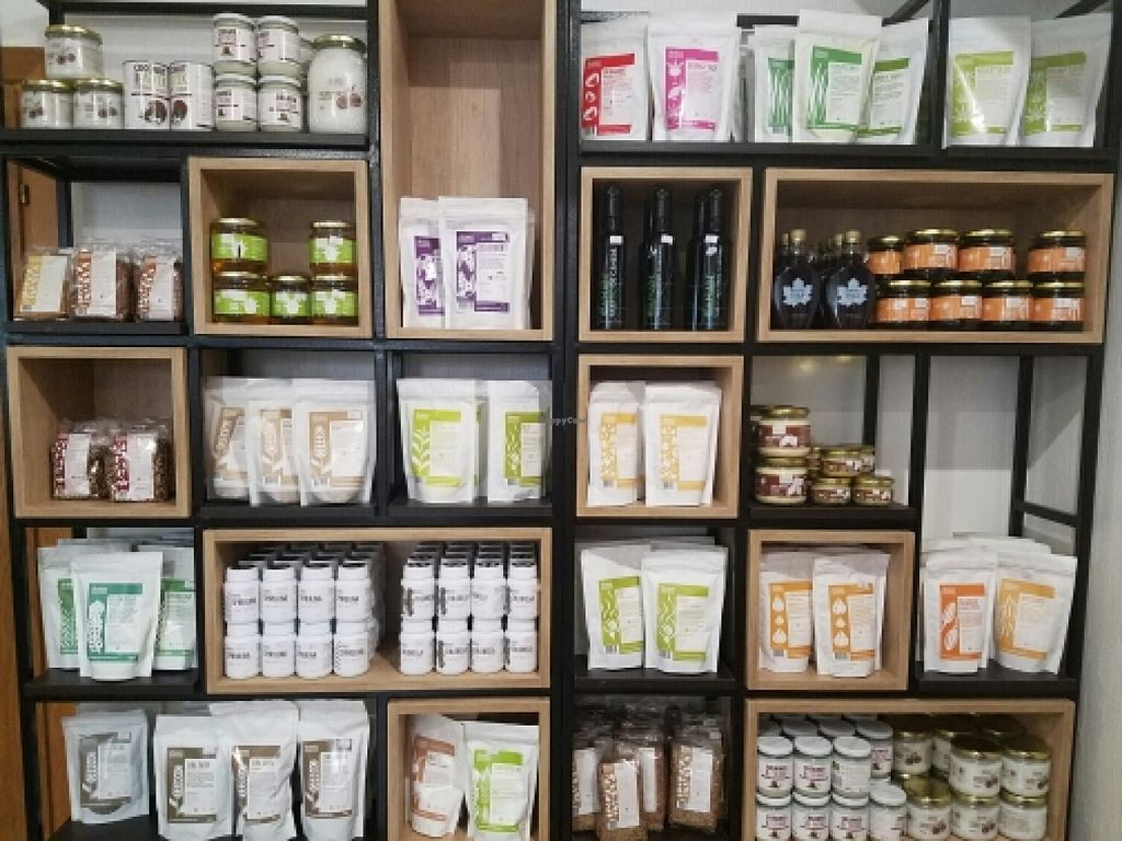 """Photo of BIOrganic Raw Cafe  by <a href=""""/members/profile/kenvegan"""">kenvegan</a> <br/>Vegetarian products <br/> May 18, 2016  - <a href='/contact/abuse/image/69552/149583'>Report</a>"""