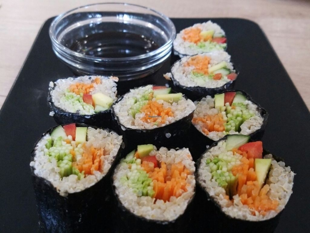 """Photo of BIOrganic Raw Cafe  by <a href=""""/members/profile/kenvegan"""">kenvegan</a> <br/>vegan sushi <br/> May 18, 2016  - <a href='/contact/abuse/image/69552/149592'>Report</a>"""