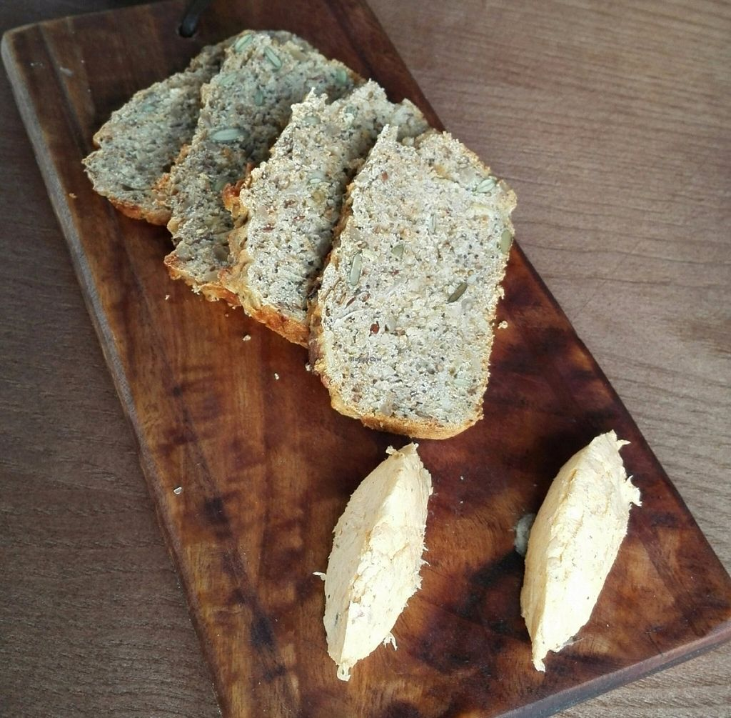 """Photo of CLOSED: Nomad Restaurant  by <a href=""""/members/profile/NatashaV"""">NatashaV</a> <br/>Complimentary bread with vegan butter before the meal <br/> July 28, 2016  - <a href='/contact/abuse/image/69554/162847'>Report</a>"""