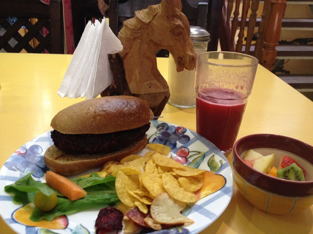 """Photo of WindHorse Cafe  by <a href=""""/members/profile/Maike"""">Maike</a> <br/>beet burger <br/> February 14, 2016  - <a href='/contact/abuse/image/69576/136248'>Report</a>"""