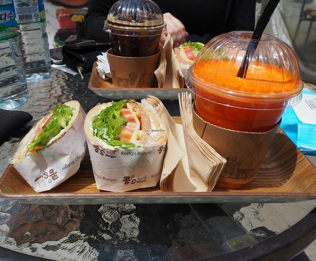 "Photo of Kong's Burger - Gaya-daero  by <a href=""/members/profile/Swavegan"">Swavegan</a> <br/>Lunch burger set <br/> April 26, 2016  - <a href='/contact/abuse/image/69587/146338'>Report</a>"