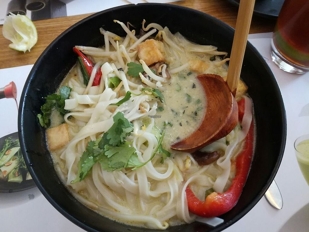 """Photo of Wagamama - Leidseplein  by <a href=""""/members/profile/happyowl"""">happyowl</a> <br/>Vegan curry <br/> April 21, 2017  - <a href='/contact/abuse/image/69588/250555'>Report</a>"""