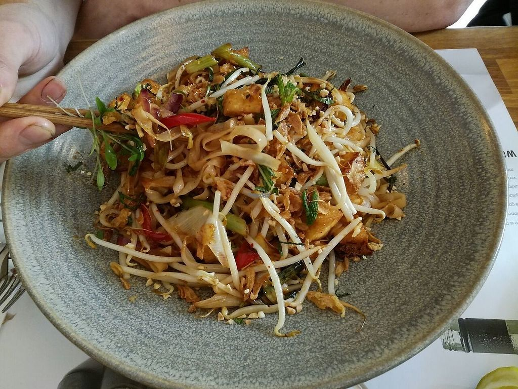 """Photo of Wagamama - Leidseplein  by <a href=""""/members/profile/happyowl"""">happyowl</a> <br/>Vegan pad thai <br/> April 21, 2017  - <a href='/contact/abuse/image/69588/250556'>Report</a>"""