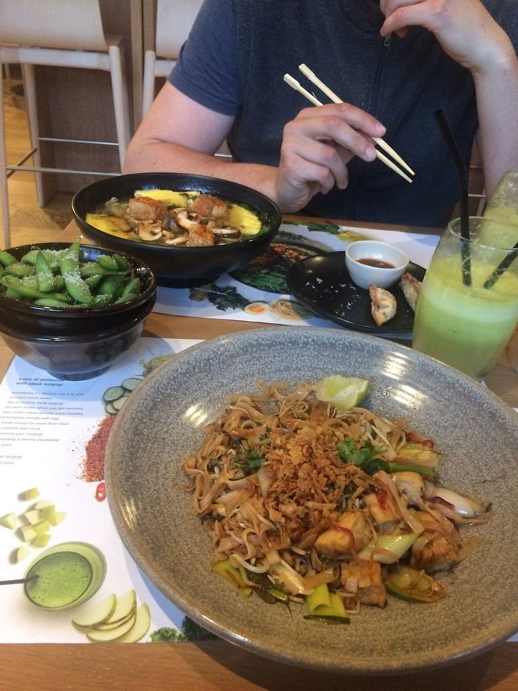 """Photo of Wagamama  by <a href=""""/members/profile/Marin100"""">Marin100</a> <br/>food and fresh juice <br/> May 20, 2017  - <a href='/contact/abuse/image/69590/260695'>Report</a>"""