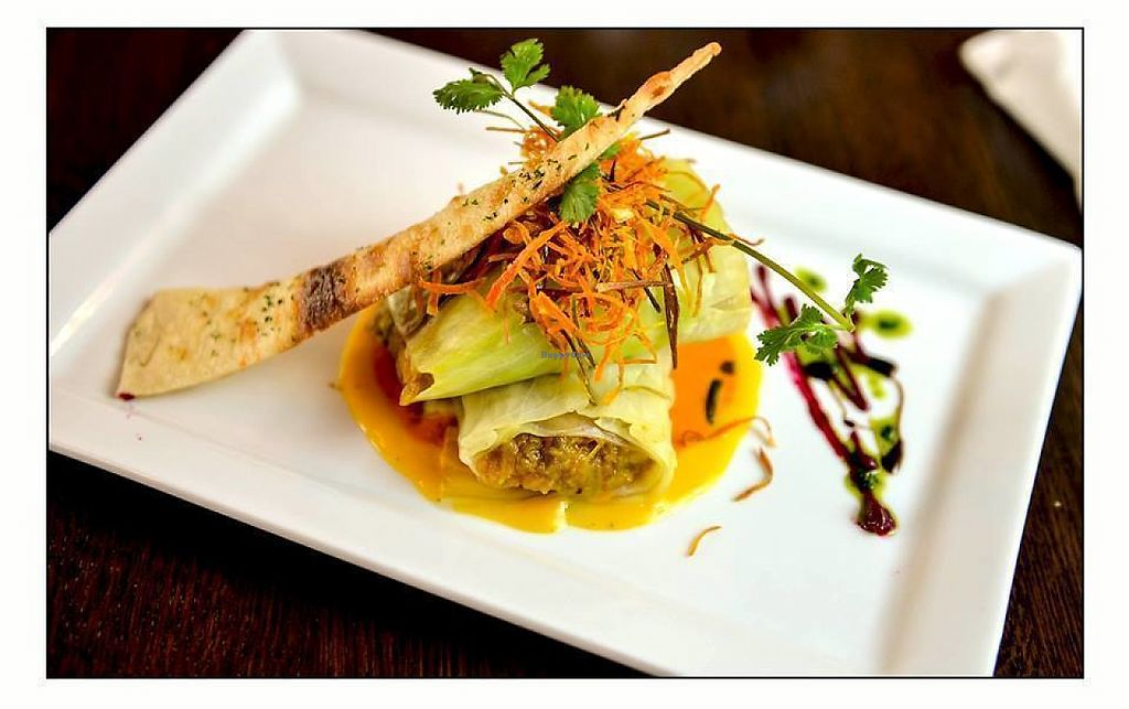"""Photo of Taaza Indian Cuisine  by <a href=""""/members/profile/community5"""">community5</a> <br/>Stuffed cabbage with Eggplant bartha <br/> May 20, 2017  - <a href='/contact/abuse/image/69598/260707'>Report</a>"""