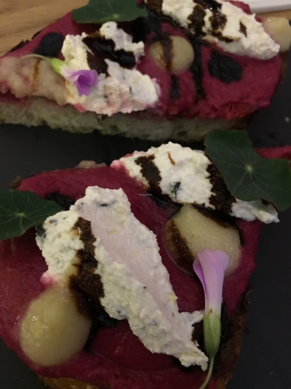 "Photo of Double Zero  by <a href=""/members/profile/cookiem"">cookiem</a> <br/>Roasted beet and herb almond ricotta bruschetta  <br/> August 17, 2017  - <a href='/contact/abuse/image/69625/293656'>Report</a>"
