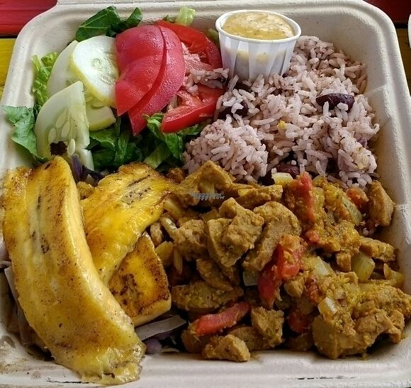 "Photo of Simmer Down Caribbean Cafe - Food Trailer  by <a href=""/members/profile/VeganSquid"">VeganSquid</a> <br/>Vegan Curried Soya Chunks  <br/> October 1, 2016  - <a href='/contact/abuse/image/69627/178912'>Report</a>"