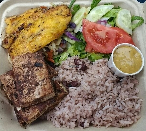 "Photo of Simmer Down Caribbean Cafe - Food Trailer  by <a href=""/members/profile/VeganSquid"">VeganSquid</a> <br/>Vegan Jerk Tofu  <br/> October 22, 2016  - <a href='/contact/abuse/image/69627/183502'>Report</a>"