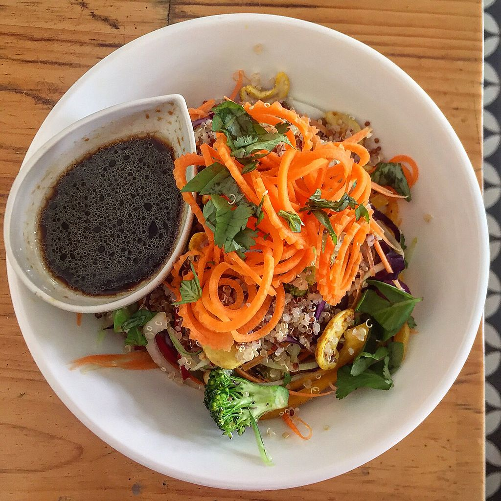 """Photo of ARTillery  by <a href=""""/members/profile/ambermarie"""">ambermarie</a> <br/>Quinoa crunch salad with julienned vegetables and cashews <br/> April 6, 2018  - <a href='/contact/abuse/image/69630/381521'>Report</a>"""