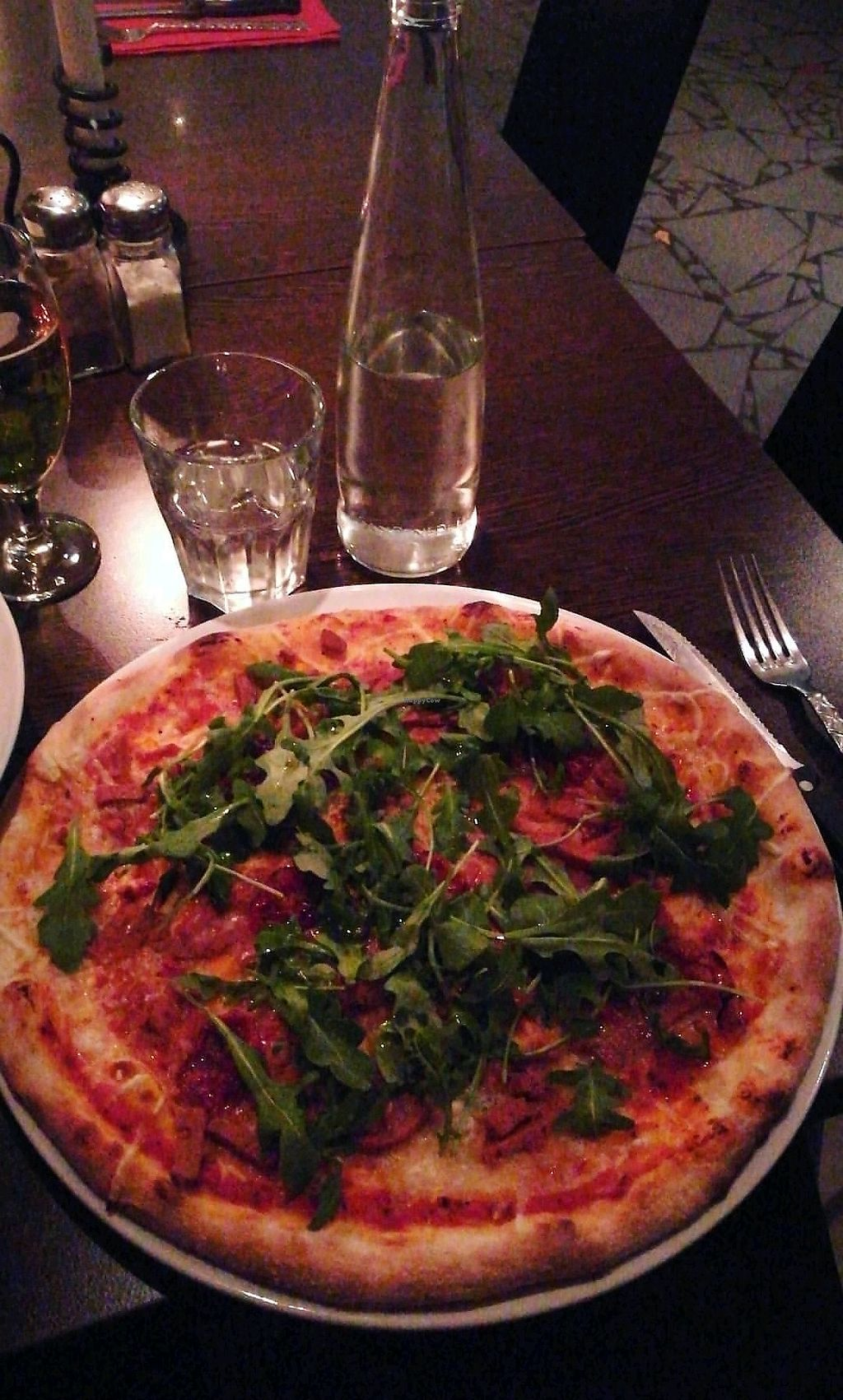 """Photo of Feca  by <a href=""""/members/profile/ErikWahlstr%C3%B6m"""">ErikWahlström</a> <br/>Vegan pizza - Totti at Feca restaurant Stockholm  <br/> September 2, 2017  - <a href='/contact/abuse/image/69651/299931'>Report</a>"""