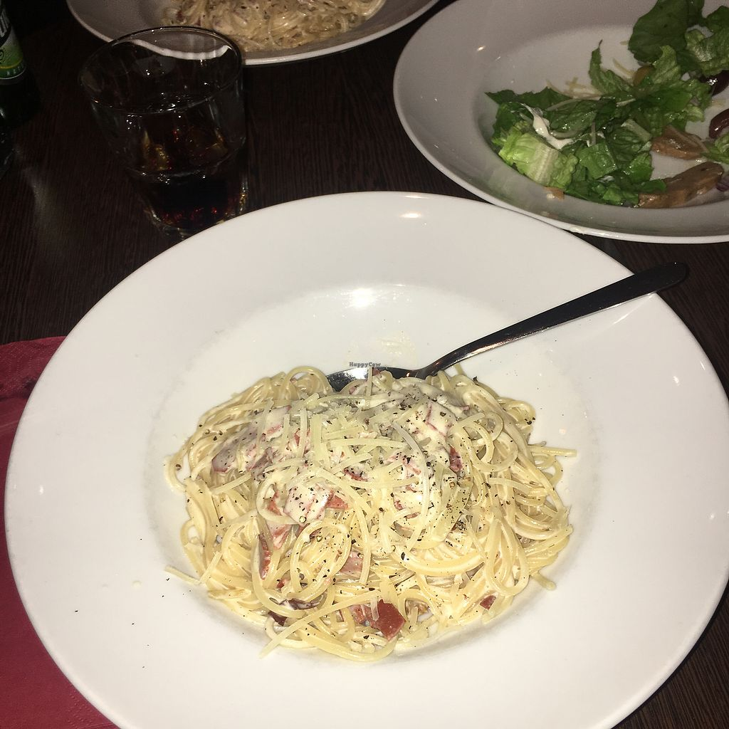 """Photo of Feca  by <a href=""""/members/profile/DashaSushkevich"""">DashaSushkevich</a> <br/>Vegan carbonara.  <br/> February 12, 2018  - <a href='/contact/abuse/image/69651/358460'>Report</a>"""