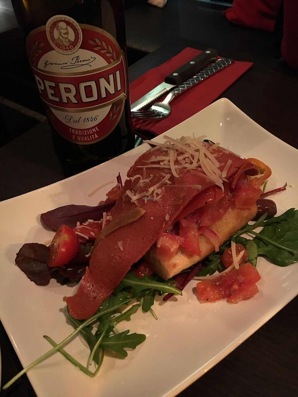 """Photo of Feca  by <a href=""""/members/profile/SeitanSeitanSeitan"""">SeitanSeitanSeitan</a> <br/>Vegan bruschetta with """"bacon"""" <br/> April 14, 2018  - <a href='/contact/abuse/image/69651/385622'>Report</a>"""