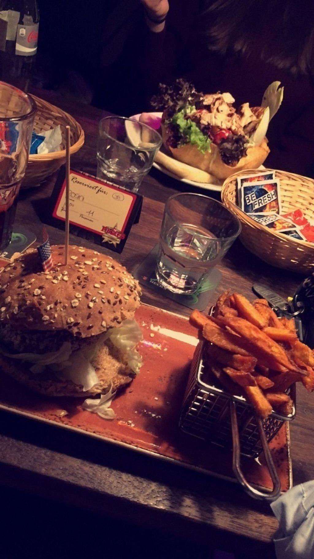 "Photo of Riggs Burger Restaurant  by <a href=""/members/profile/NinaHirt"">NinaHirt</a> <br/>Vegan burger & sweet potato fried <br/> May 27, 2017  - <a href='/contact/abuse/image/69657/262919'>Report</a>"