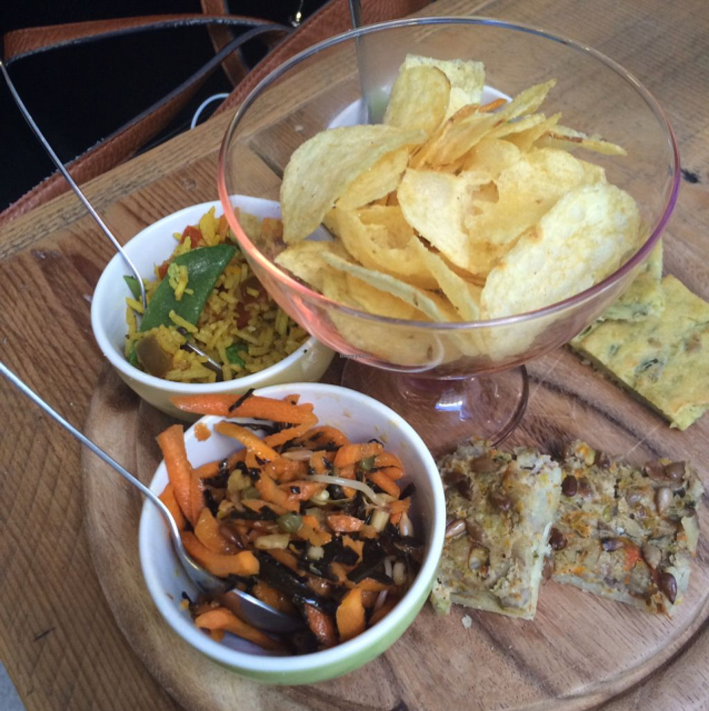 """Photo of MiaGola Caffe  by <a href=""""/members/profile/EmilyBee"""">EmilyBee</a> <br/>Vegan plate  <br/> June 21, 2016  - <a href='/contact/abuse/image/69658/155317'>Report</a>"""