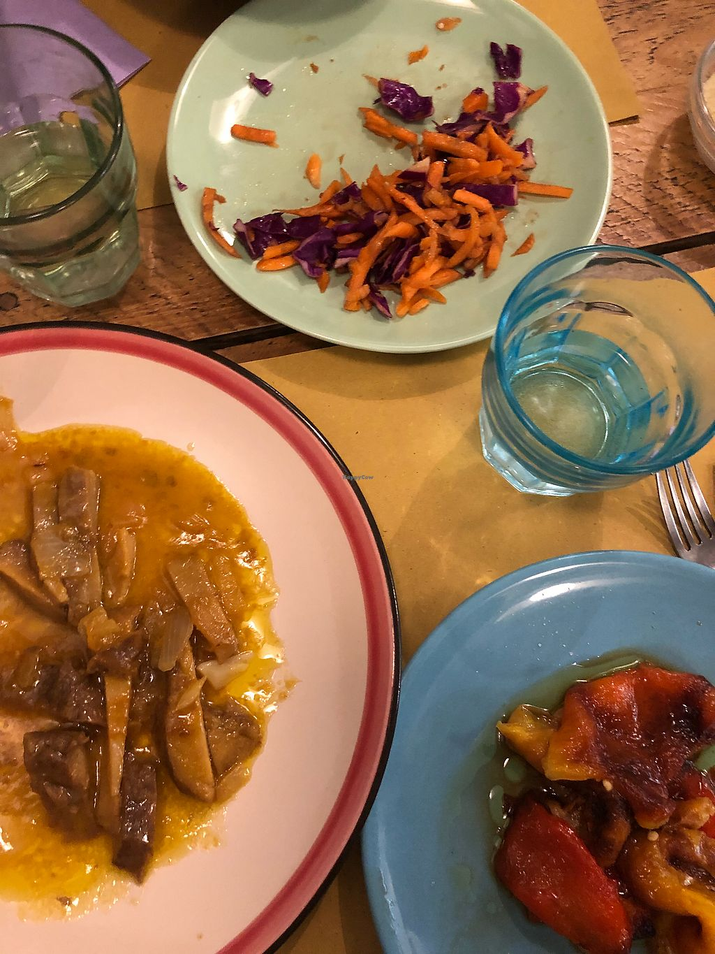 """Photo of MiaGola Caffe  by <a href=""""/members/profile/Sommer"""">Sommer</a> <br/>Seitan, Insalata, Peperoni <br/> January 4, 2018  - <a href='/contact/abuse/image/69658/342851'>Report</a>"""
