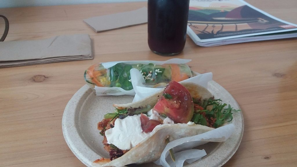 """Photo of Hapi  by <a href=""""/members/profile/Diz%20Parker"""">Diz Parker</a> <br/>Lunch - a very fresh and delicious Spring Roll and a Chili Wrap. I also had a fresh beetroot juice <br/> February 14, 2017  - <a href='/contact/abuse/image/69671/226530'>Report</a>"""