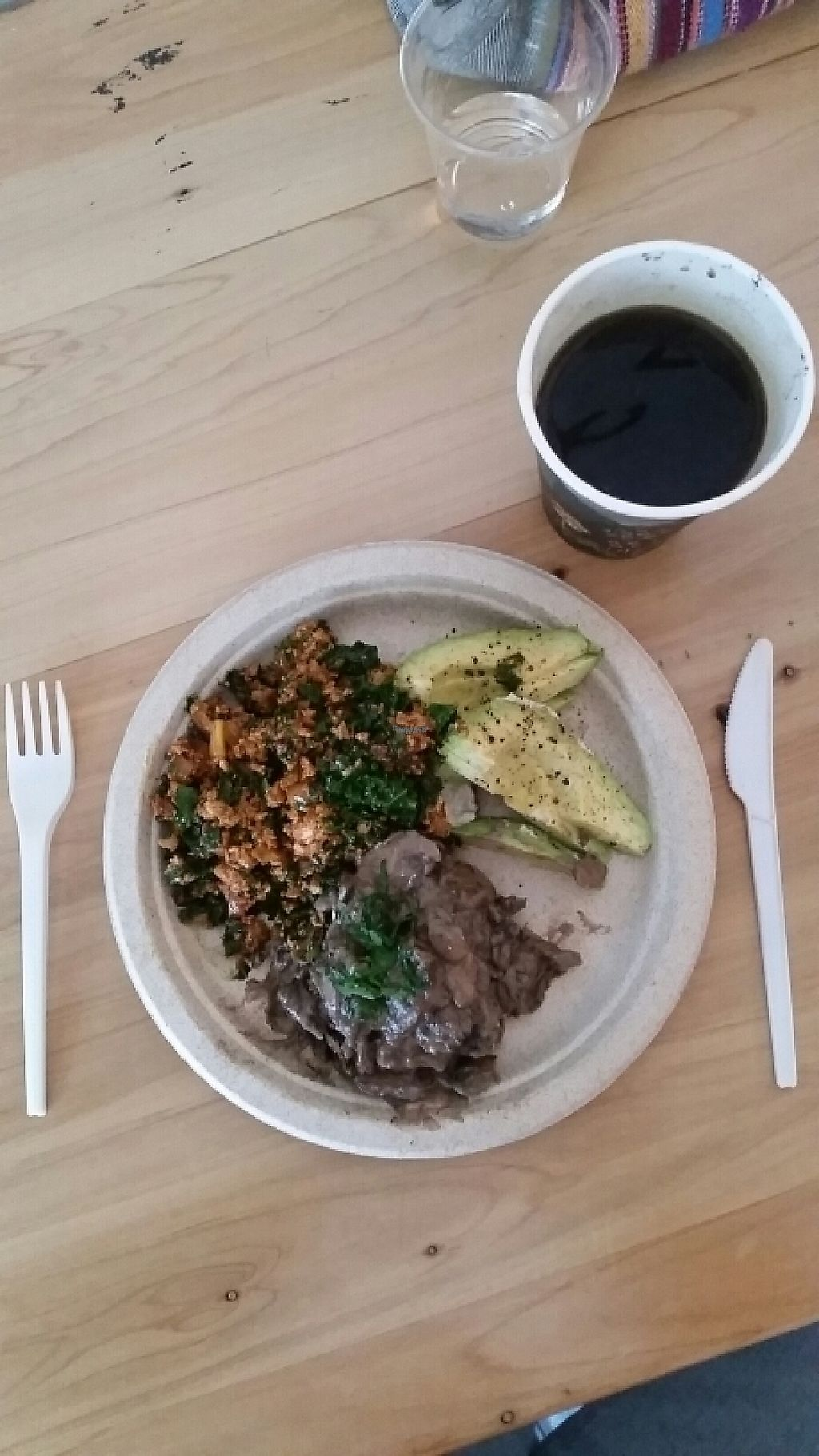 """Photo of Hapi  by <a href=""""/members/profile/AndyTheVWDude"""">AndyTheVWDude</a> <br/>Spicy tofu scramble/kale breakfast <br/> March 22, 2017  - <a href='/contact/abuse/image/69671/239610'>Report</a>"""