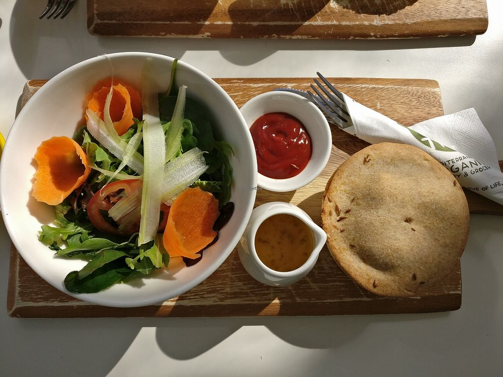 """Photo of Happy Olive Tree  by <a href=""""/members/profile/Aloo"""">Aloo</a> <br/>Spelt curry veg pie with salad <br/> August 22, 2017  - <a href='/contact/abuse/image/69672/295930'>Report</a>"""
