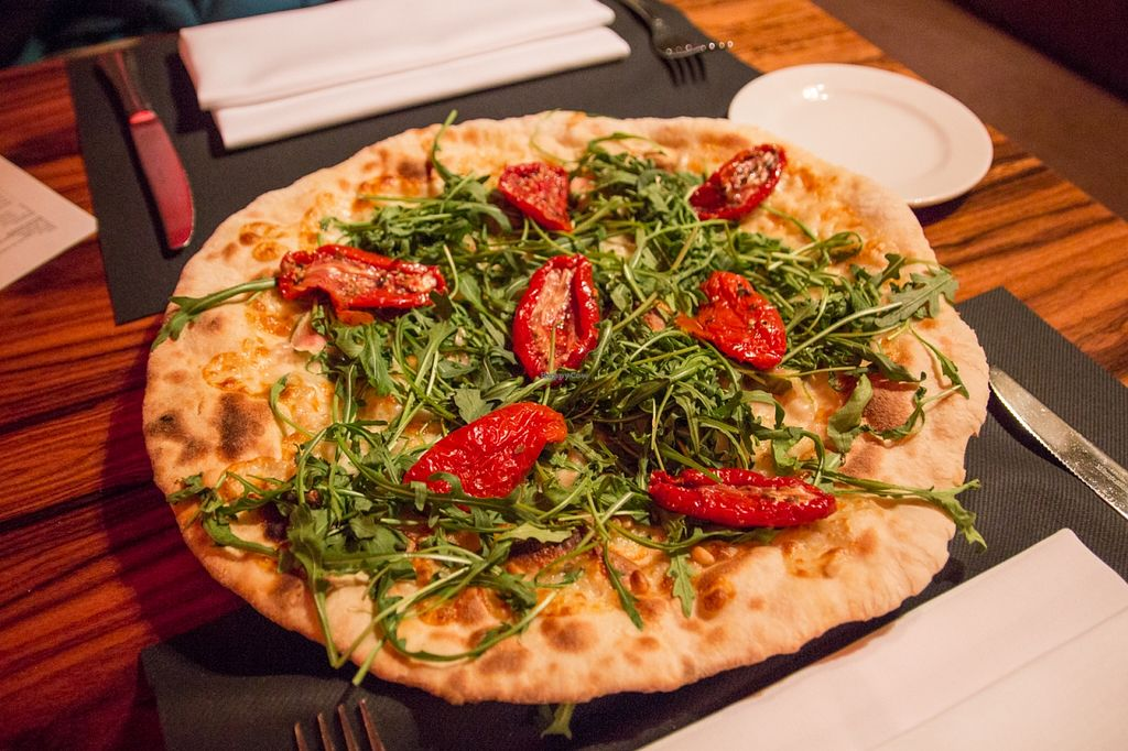 """Photo of manin  by <a href=""""/members/profile/SVEggieSI"""">SVEggieSI</a> <br/>Pizza Bianco 'vegan style' = without goat cheese and honey <br/> February 19, 2016  - <a href='/contact/abuse/image/69693/136861'>Report</a>"""