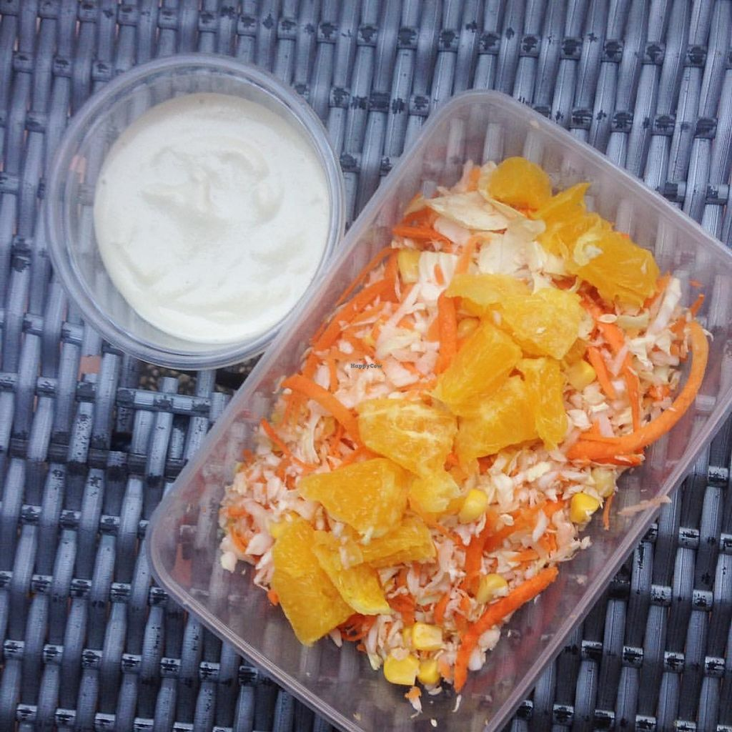 """Photo of I Can't Believe It's Vegan  by <a href=""""/members/profile/community"""">community</a> <br/>Summer Salad with homemade Raw Vegan Sprouted Cashew 'Mayo' <br/> May 10, 2016  - <a href='/contact/abuse/image/69703/148410'>Report</a>"""