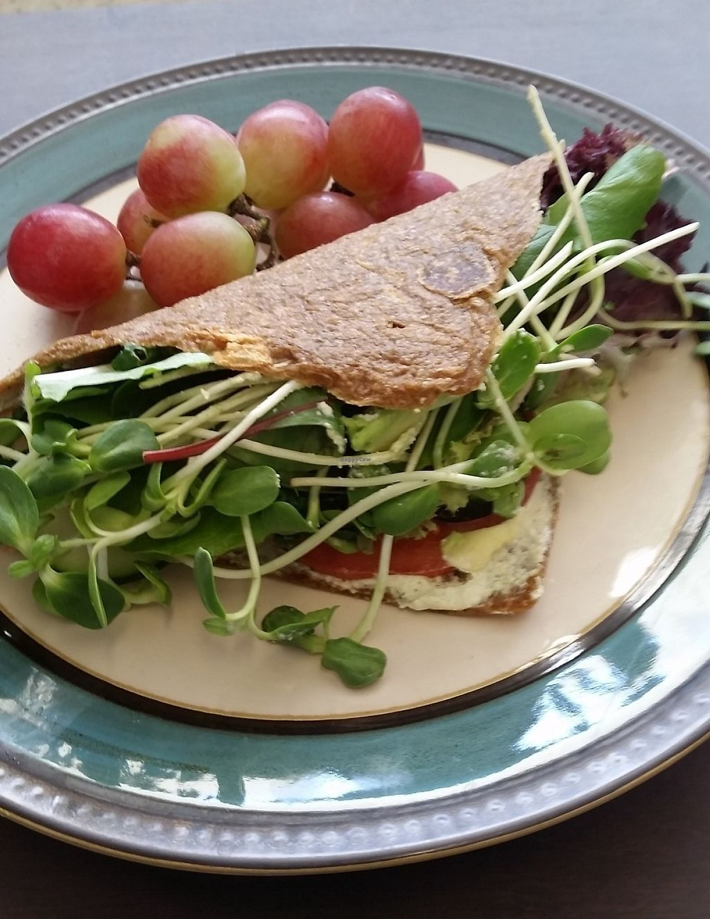 "Photo of Old Earth Pure Organic Food  by <a href=""/members/profile/BSveg"">BSveg</a> <br/>Mouth watering raw vegan organic veggie wrap. Everything made in house! Cashew zucchini hummus, guacamole, tomato, micro greens, cucumber and field greens! <br/> July 14, 2016  - <a href='/contact/abuse/image/69712/197569'>Report</a>"