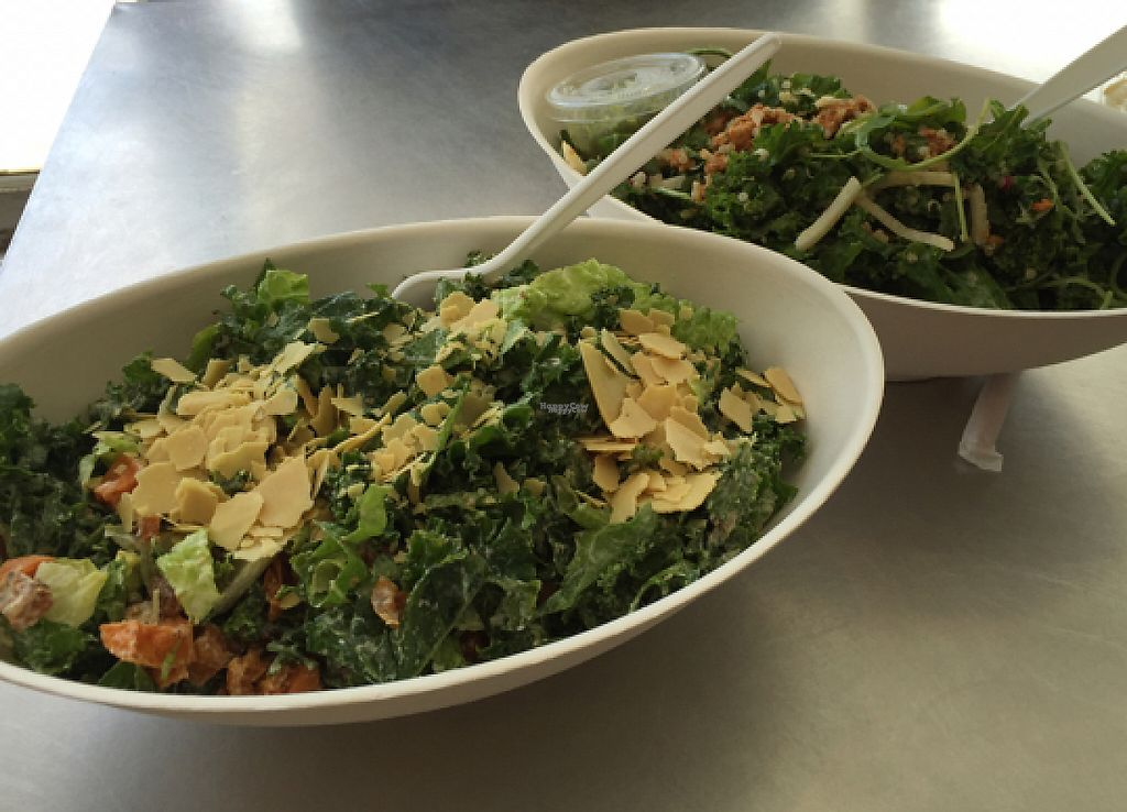 "Photo of The Juice Theory  by <a href=""/members/profile/Isamara"">Isamara</a> <br/>Vegan Caesar (front) & Burrito Love Bowl (back) <br/> September 5, 2016  - <a href='/contact/abuse/image/69724/208809'>Report</a>"