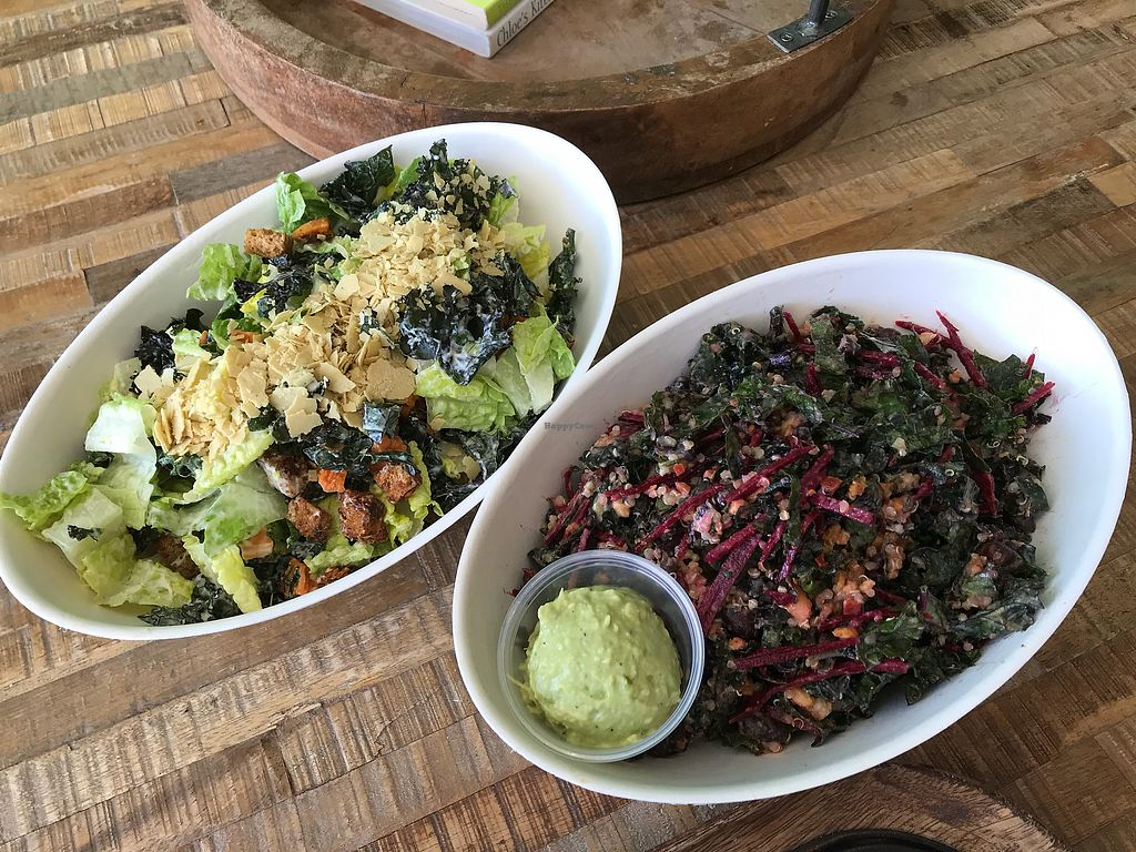 "Photo of The Juice Theory  by <a href=""/members/profile/Isamara"">Isamara</a> <br/>Vegan Caesar salad, and Burrito Love bowl  <br/> April 8, 2018  - <a href='/contact/abuse/image/69724/382707'>Report</a>"