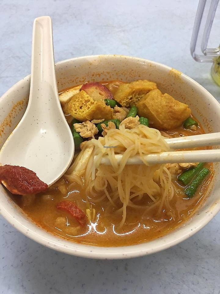 """Photo of Pang Zhen Vegetarian Restaurant  by <a href=""""/members/profile/JimmySeah"""">JimmySeah</a> <br/>Curry noodles <br/> October 8, 2017  - <a href='/contact/abuse/image/69735/313124'>Report</a>"""