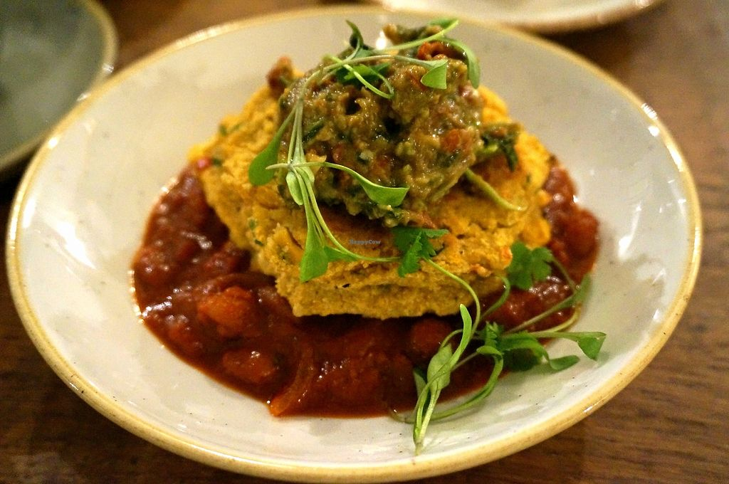 "Photo of CLOSED: Deliciously Ella - Seymour  by <a href=""/members/profile/Ricardo"">Ricardo</a> <br/>Sweet corn fritatas + Spicy beans (Breakfast menu) <br/> September 25, 2017  - <a href='/contact/abuse/image/69750/308341'>Report</a>"