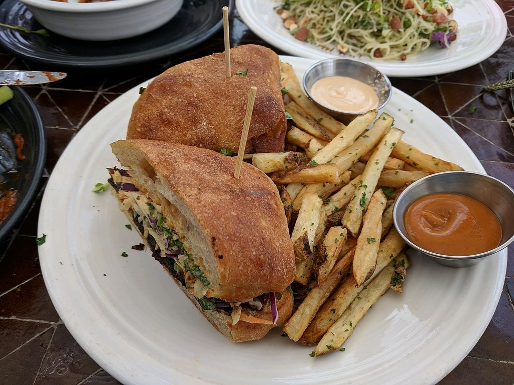 """Photo of Gratitude  by <a href=""""/members/profile/zenmaestro"""">zenmaestro</a> <br/>committed - BBQ mushroom sandwich on fermented ciabatta bread <br/> April 2, 2018  - <a href='/contact/abuse/image/69771/379967'>Report</a>"""