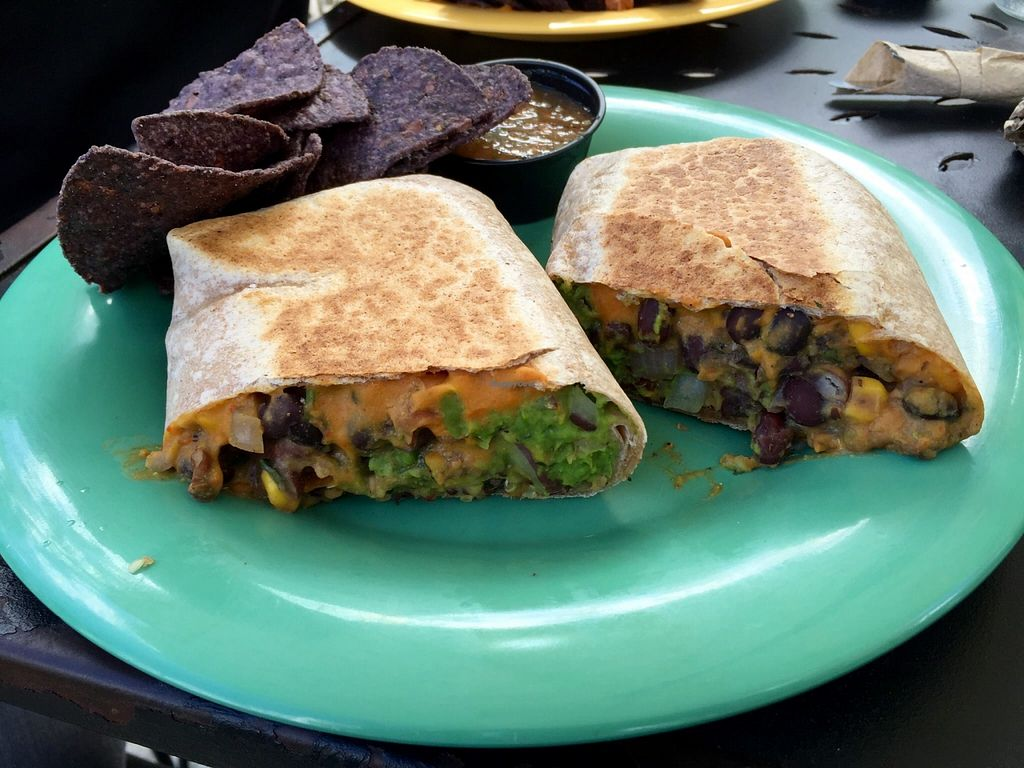 "Photo of Dandelion Communitea Cafe  by <a href=""/members/profile/clovely.vegan"">clovely.vegan</a> <br/>Bean Burrito! <br/> October 21, 2015  - <a href='/contact/abuse/image/6979/122039'>Report</a>"
