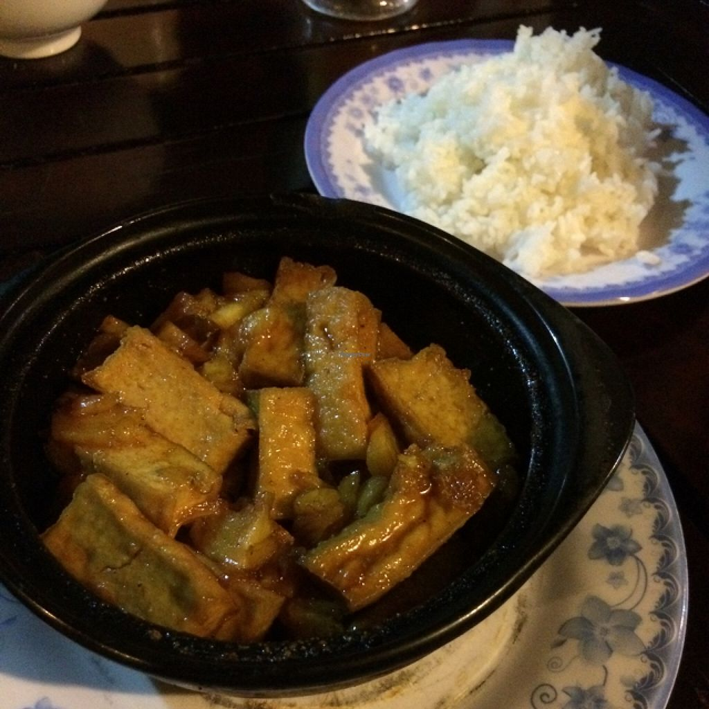 """Photo of Lam Tong Quan  by <a href=""""/members/profile/The_Unhealthy_Veggo"""">The_Unhealthy_Veggo</a> <br/>Tofu and Pepper cooked in a clay pot  <br/> April 13, 2016  - <a href='/contact/abuse/image/69812/144353'>Report</a>"""