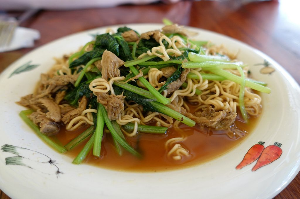 "Photo of CLOSED: Battambang Vegetarian Food  by <a href=""/members/profile/DusselDaene"">DusselDaene</a> <br/>Noodles with vegetables and fake meat.  <br/> November 6, 2016  - <a href='/contact/abuse/image/69813/187009'>Report</a>"