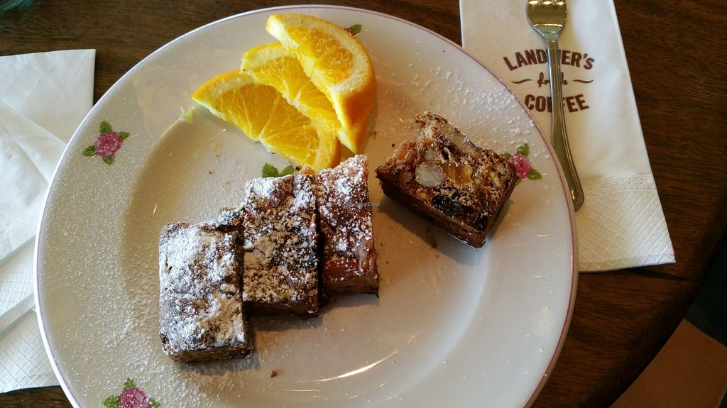 """Photo of Cafe Landwer - Cinema City Complex  by <a href=""""/members/profile/Brok%20O.%20Lee"""">Brok O. Lee</a> <br/>Vegan panforte fruit cake <br/> February 19, 2016  - <a href='/contact/abuse/image/69825/136879'>Report</a>"""
