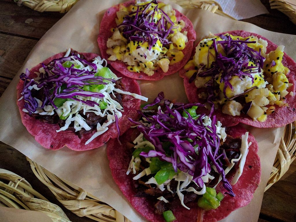 "Photo of La Pitahaya Vegana  by <a href=""/members/profile/steveveg"">steveveg</a> <br/>Tacos <br/> August 28, 2017  - <a href='/contact/abuse/image/69829/298396'>Report</a>"
