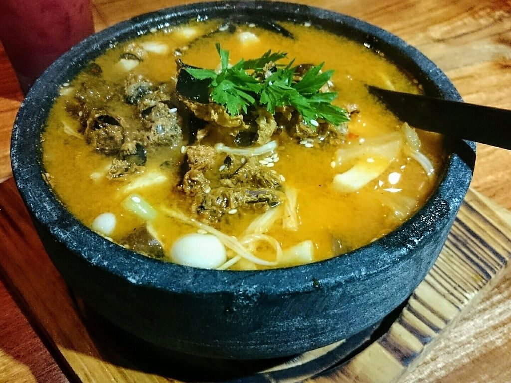 "Photo of Ereenzu Restaurant  by <a href=""/members/profile/Ovinnika"">Ovinnika</a> <br/>Kimchi soup  <br/> January 23, 2017  - <a href='/contact/abuse/image/69854/215369'>Report</a>"