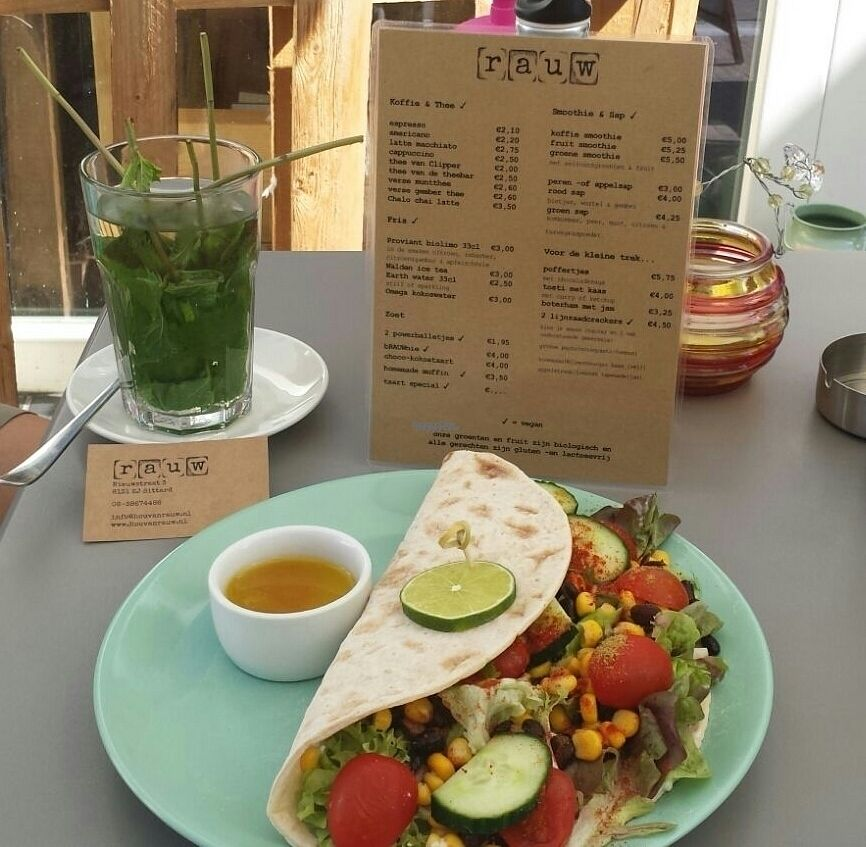 """Photo of Rauw  by <a href=""""/members/profile/Angof"""">Angof</a> <br/>Mint tea with 'the mexican' wrap. 'Ansum  <br/> September 5, 2016  - <a href='/contact/abuse/image/69873/173810'>Report</a>"""
